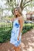 Good Vibrations Blue Tie Dye Tiered Dress