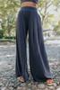 High Waist Charcoal Ribbed Pants