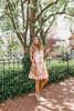 Good Vibrations Orange Tie Dye Tiered Dress