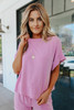 Teagan Cuffed Sleeve Dusty Rose Pullover
