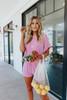 Teagan Cuffed Sleeve Dusty Rose Pullover