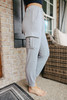 French Terry Drawstring Grey Cargo Joggers