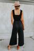 Sweetheart Ruffle Strap Black Jumpsuit