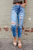 Saltwater Distressed Medium Wash Boyfriend Jeans