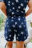 Vintage Navy Star Lounge Shorts