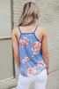 Surplice Burnout Blue Floral Tank