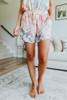 Drawstring Pastel Tie Dye Lounge Shorts