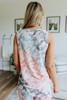 Contrast Stitch Pastel Tie Dye Tank