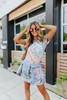 Cuffed Sleeve Pastel Tie Dye T-Shirt Dress