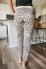 Contrast Leopard Thermal Joggers