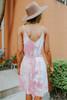 Dream On Tie Waist Tie Dye Dress