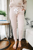 Drawstring Pink Fleece Joggers
