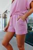 Teagan Dusty Rose Lounge Shorts