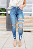 Pacific Point Distressed Medium Wash Skinny Jeans