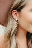 Brielle Textured Gold Leaf Earrings