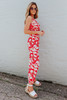 Surplice Red Tropical Floral Jumpsuit