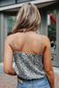 Surplice Lace Detail Leopard Bodysuit