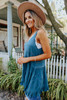 Free People Voile and Lace Turquoise Trapeze Slip