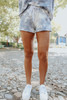 Drawstring Blue Tie Dye Lounge Shorts