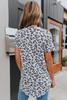 Short Sleeve V-Neck Leopard Top
