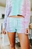 Ocean Drive Tie Dye Fleece Lounge Shorts