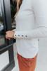 Button Cuff Turtleneck Ivory Sweater - FINAL SALE