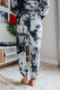 French Terry Black Tie Dye Joggers