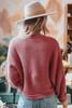 Folklore Cable Chenille Marsala Sweater