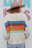Afterglow Rainbow Ribbed Sweater
