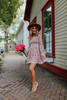 Bohemian Spell Red Floral Tiered Dress