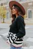 Cassandra Leopard Colorblock Sweater