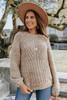 Bree Ribbed Sleeve Raglan Sweater