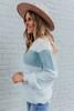 Genovia Aqua Colorblock Sweater
