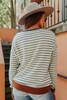 Soft Brushed Contrast Striped Pullover