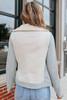 Kensington Shearling Sweatshirt Moto Jacket