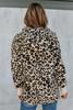 Hooded Sherpa Leopard Cardigan