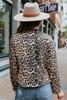 Runway Leopard Moto Peach Skin Jacket