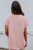 Skate Rink Contrast Stitch Pink Pullover