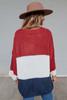 Cuffed Colorblock Pocket Sweater