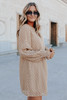 Moonlight Kiss Taupe Dotted Dress