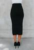 Victoria Ribbed Sweater Black Midi Skirt