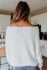 One Wish Boatneck White Eyelash Sweater