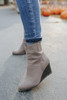 Dalton Faux Suede Wedge Booties