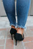 Masquerade Faux Nubuck Black Pumps