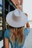 Amore Wide Brim Grey Hat