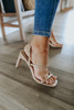 First Impression Strappy Nude Slingback Heels