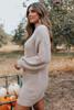 Mock Neck Latte Sweater Dress