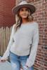 Layne Boatneck Taupe Eyelash Sweater