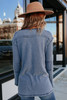 Stone Washed Blue Henley Thermal