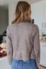 Faux Suede Mocha Cascading Jacket